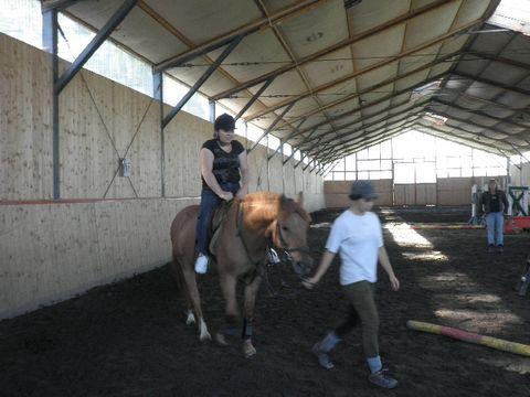 Agnieszka na koniu