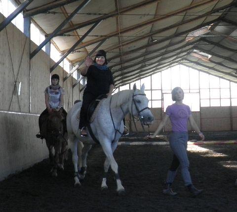 Pani Monika na koniu